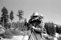 Ansel Adams photographing in Yosemite National Park in 1968: A.Adams 24