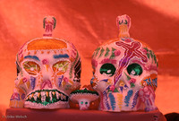 Sugar Sculls on display during 'El Dia de los Muertos', Merida, Yucatan, Mexcio: MXFR10_3