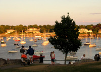 Marblehead Harbor at sunset from Crocker Park: IMG_0215