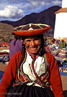Peasant woman on market in Chinchero, Peru: PPG.Peas3_1