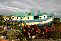 Old Boat becomes art, Monterey, California: 866_6639