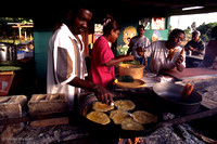 Typical pancakes being fried at roadside stand, Puerto Rico : PRMSfd1_5