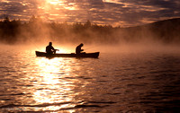 Fishermen on Conway Lake, North Conway, New Hampshire : CPgFi_4_12