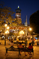 Night Scene of Plaza in downtown Puerto Vallarta, Baja,  MexicoIMG_0233