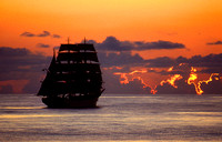 The Portugese Tall Ship Sagres in sunset: CNauTS.3_1