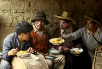 Musician's meal in Andes: PPgFR8_9